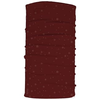 Burgundy stars neck tube