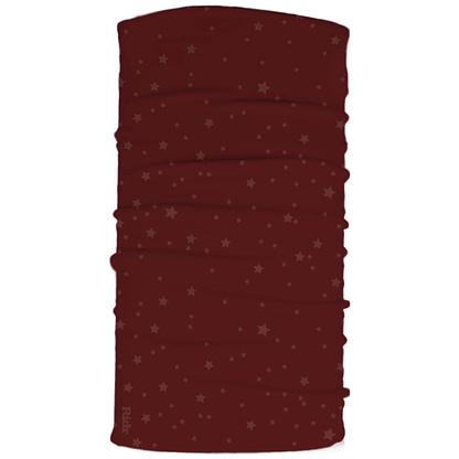 Burgundy stars neck tube