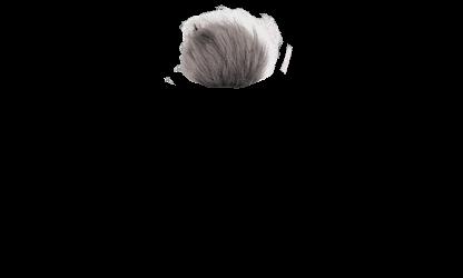 Grey Faux Fur Pom Pom
