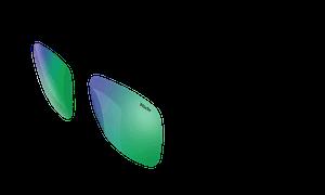 Switch Sunglasses Green Chrome Lenses