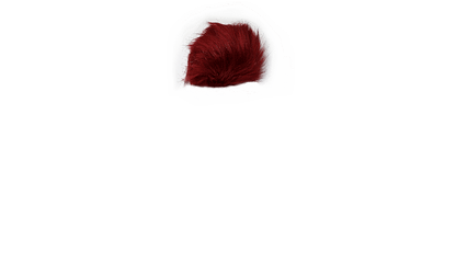 Ruby Red Faux Fur Pom Pom