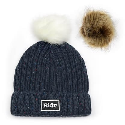 Interchangeable Faux Fur Pom Pom Beanie
