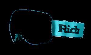 Ridr Edge Custom Ski Goggles - Teal Strap