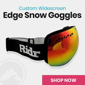 Custom Widescreen Ridr Edge Ski Snowboard Goggles