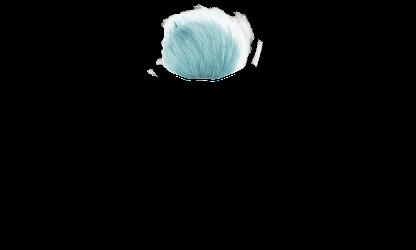 Blue Faux Fur Pom Pom