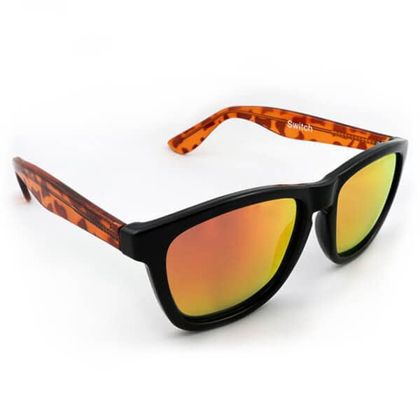 Classic Black Frame and Arms with Polarised Black lenses Ridr Switch Sunglasses