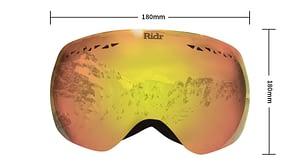 Ridr Edge Goggles Dimensions Size Guide