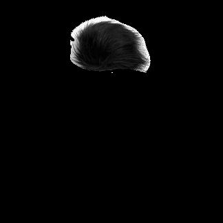 Black Faux Fur Pom Pom