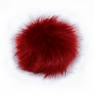 Ruby Red Faux Fur Pom Pom