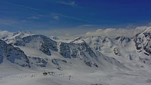 View with blue chrome lens