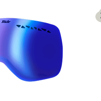 Ridr Edge Ski Goggles Blue chrome Mirror Lens