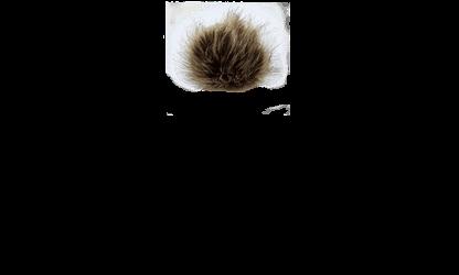 Brown Faux Racoon Fur Pom Pom