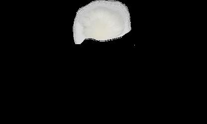 White Faux Fur Pom Pom