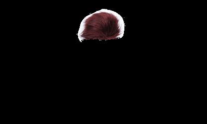 Wine Red Faux Fur Pom Pom