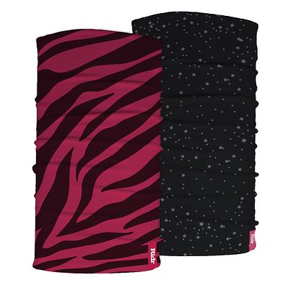 Pink Zebra and stars neck tube Set