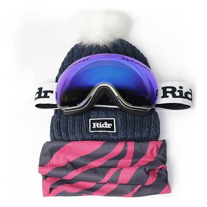 Zebra Ski Slope Set